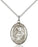 Sterling Silver Saint Clare of Assisi Necklace Set