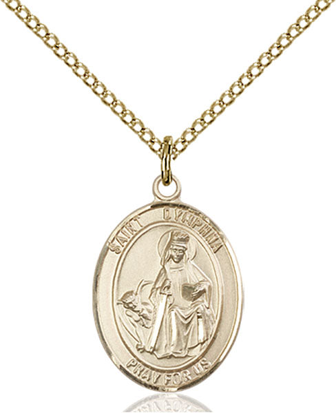 Gold-Filled Saint Dymphna Necklace Set