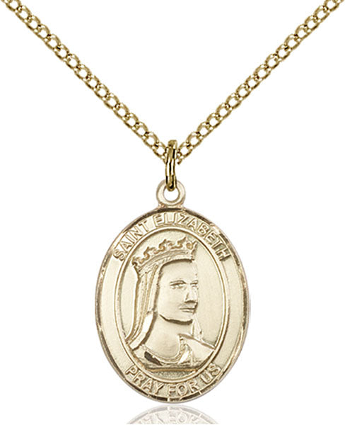 Gold-Filled Saint Elizabeth of Hungary Necklace Set
