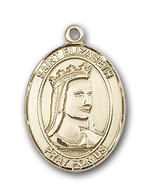 14K Gold Saint Elizabeth of Hungary Pendant