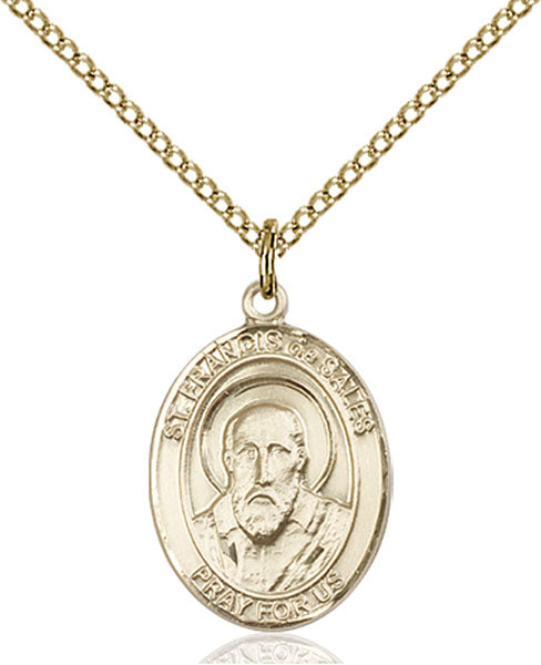 Gold-Filled Saint Francis De Sales Necklace Set