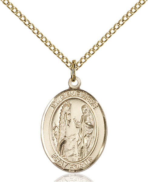 Gold-Filled Saint Genevieve Necklace Set