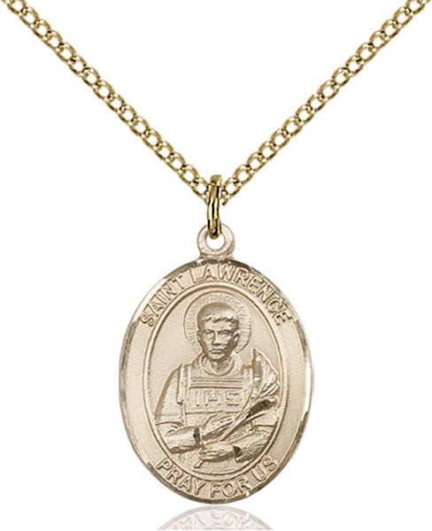 Gold-Filled Saint Lawrence Necklace Set