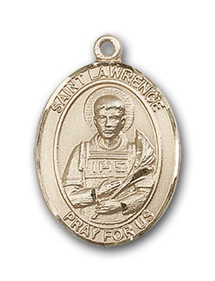 14K Gold Saint Lawrence Pendant