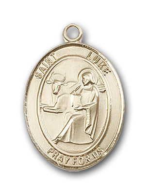 14K Gold Saint Luke the Apostle Pendant