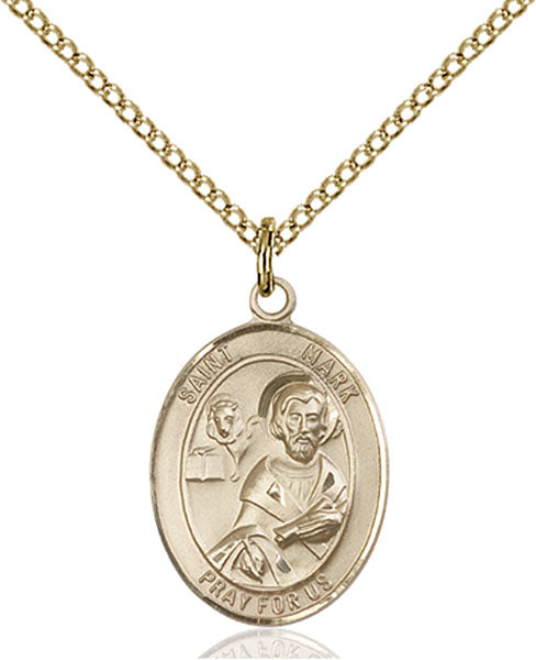 Gold-Filled Saint Mark the Evangelist Necklace Set