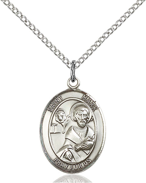 Sterling Silver Saint Mark the Evangelist Necklace Set