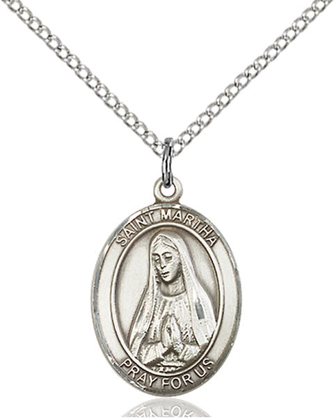 Sterling Silver Saint Martha Necklace Set