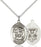 Sterling Silver Saint Michael Navy Necklace Set