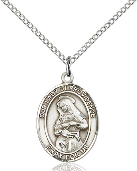 Sterling Silver Our Lady of Providence Necklace Set
