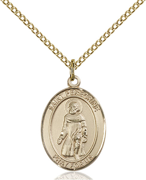 Gold-Filled Saint Peregrine Laziosi Necklace Set