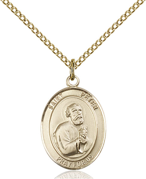 Gold-Filled Saint Peter the Apostle Necklace Set