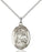 Sterling Silver Saint Raphael the Archangel Necklace Set