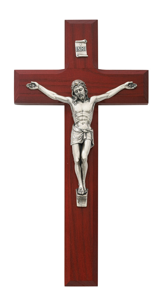 8-inch Beveled Cherry Crucifix