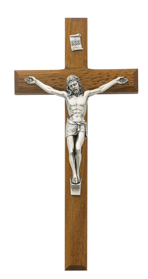 8-inch Beveled Walnut Crucifix
