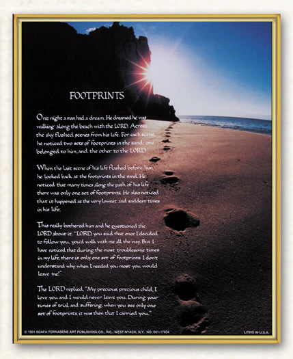 Footprints 8X10 Plaque