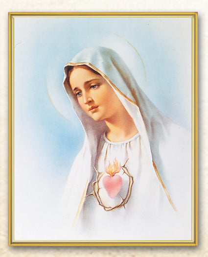 Immaculate Heart Mary 8X10 Plaque