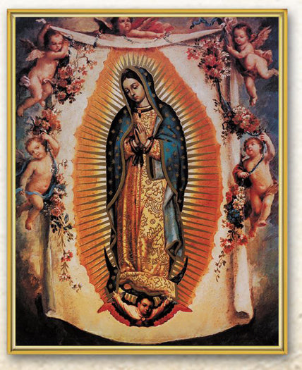 Ol Guadalupe with Angels 8X10 Plaque