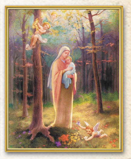 Madonna Of Woods 8X10 Plaque