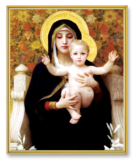 Bouguereau: Madonna/Child 8X10 Plaque
