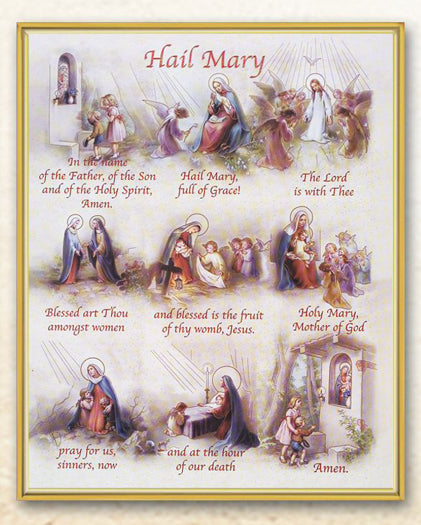Hail Mary 8X10 Plaque
