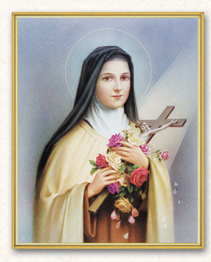St Therese 8X10 Plaque
