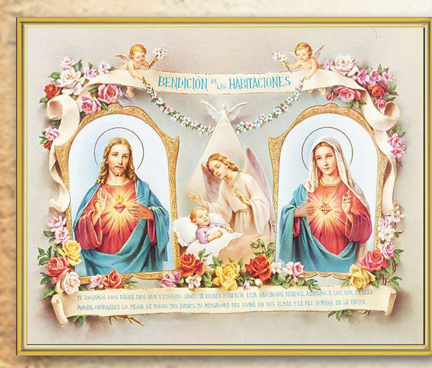 Baby Rm Blessing Spanish 8X10 Plaque
