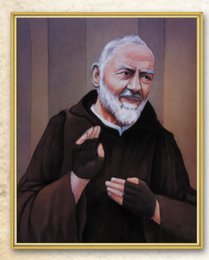 Saint Pio 8X10 Plaque