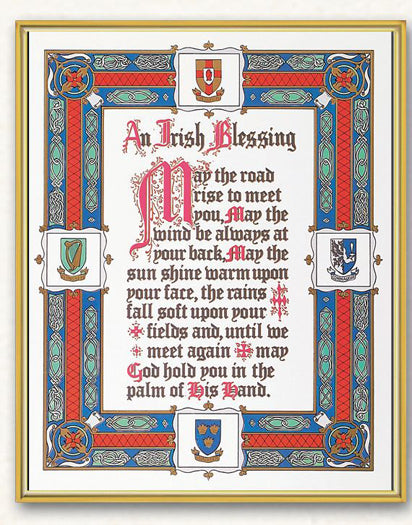 Irish Blessing 8X10 Plaque