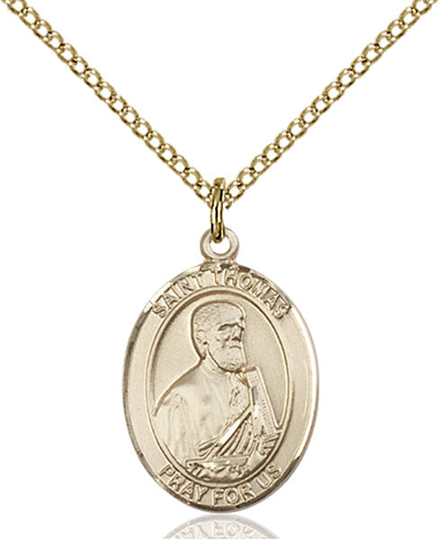 Gold-Filled Saint Thomas the Apostle Necklace Set