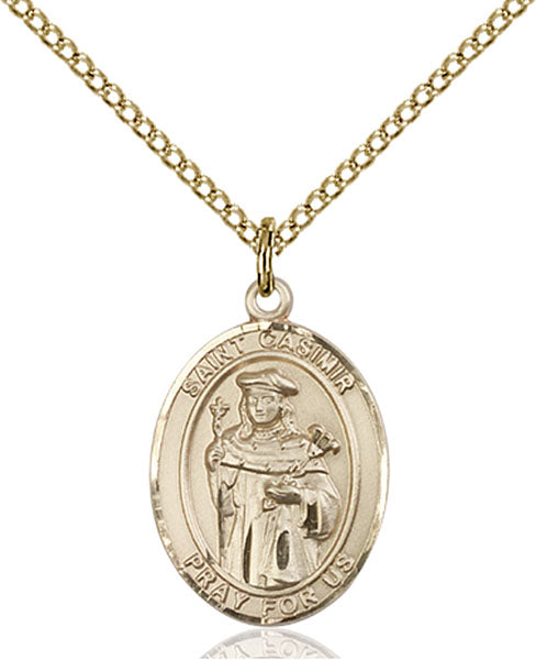 Gold-Filled Saint Casimir of Poland Necklace Set