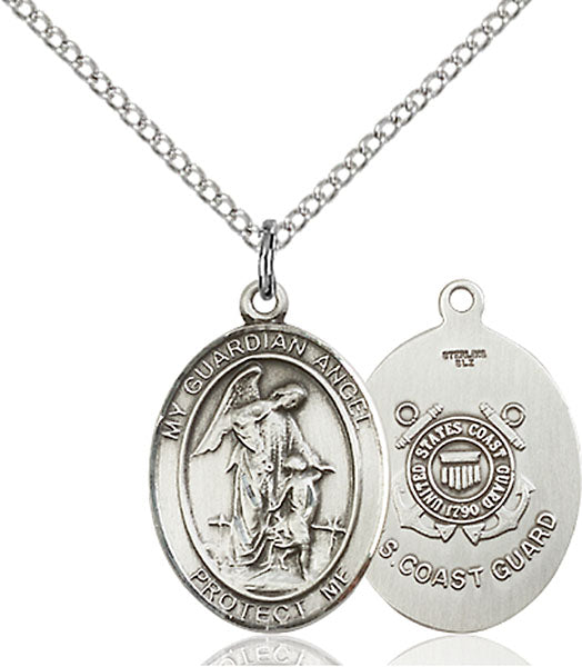 Sterling Silver Guardian Angel, Angel Jewelry Coast Guard Necklace Set