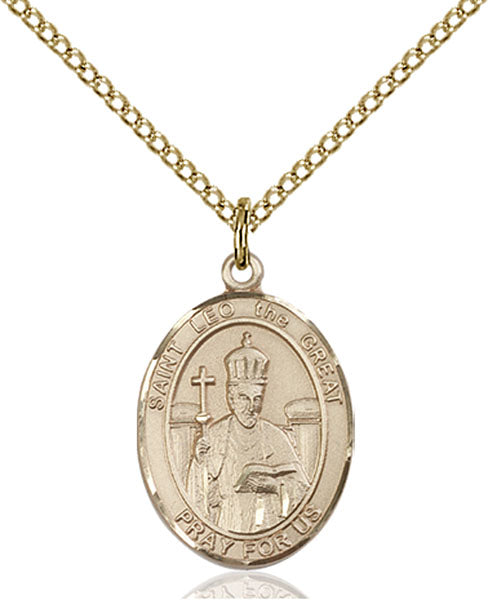 Gold-Filled Saint Leo the Great Necklace Set