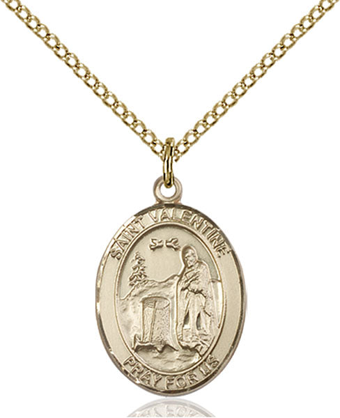 Gold-Filled Saint Valentine of Rome Necklace Set