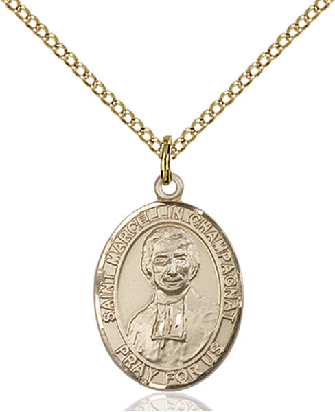 Gold-Filled Saint Marcellin Champagnat Necklace Set