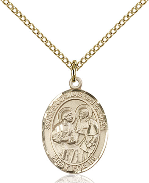 Gold-Filled Sts. Cosmas and Damian Necklace Set