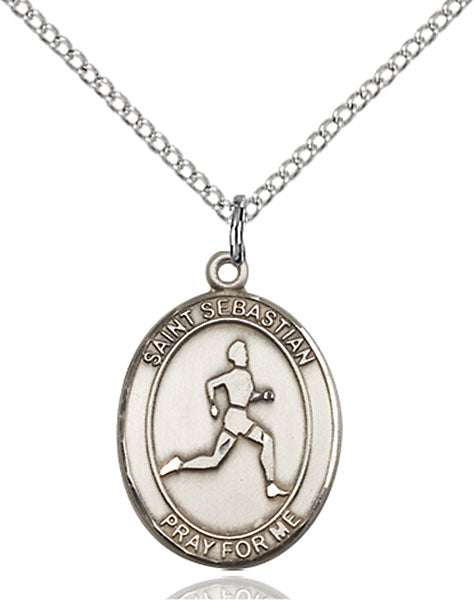 Sterling Silver Saint Sebastian Track and Field Pendant