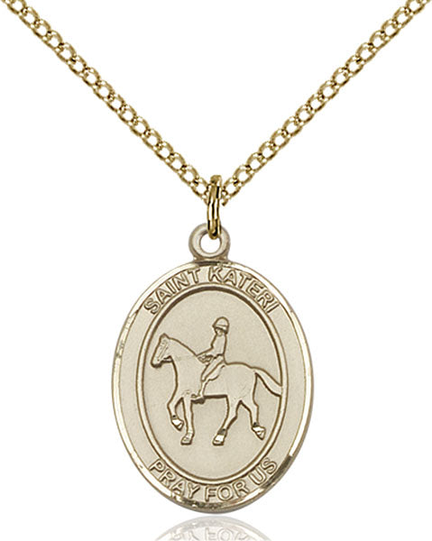 Gold-Filled Saint Kateri Equestrian Necklace Set