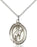 Sterling Silver Saint Sebastian Rodeo Necklace Set