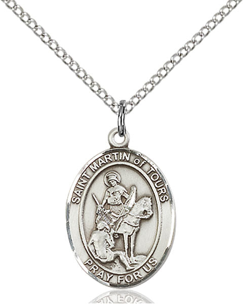 Sterling Silver Saint Martin of Tours Necklace Set