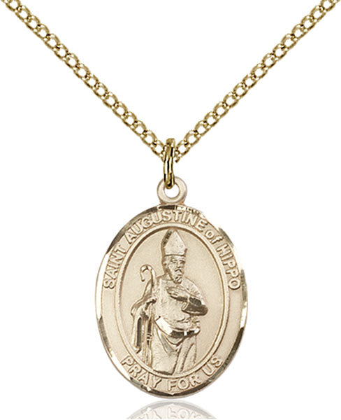 Gold-Filled Saint Augustine of Hippo Necklace Set