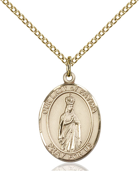 Gold-Filled Our Lady of Fatima Necklace Set