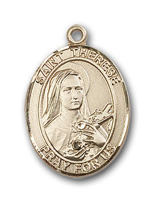 14K Gold Saint Therese of Lisieux Pendant