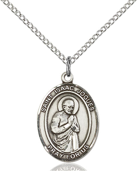 Sterling Silver Saint Isaac Jogues Necklace Set