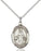 Sterling Silver Saint Nino de Atocha Necklace Set