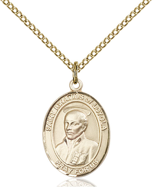 Gold-Filled Saint Ignatius of Loyola Necklace Set