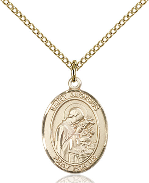 Gold-Filled Saint Aloysius Gonzaga Necklace Set