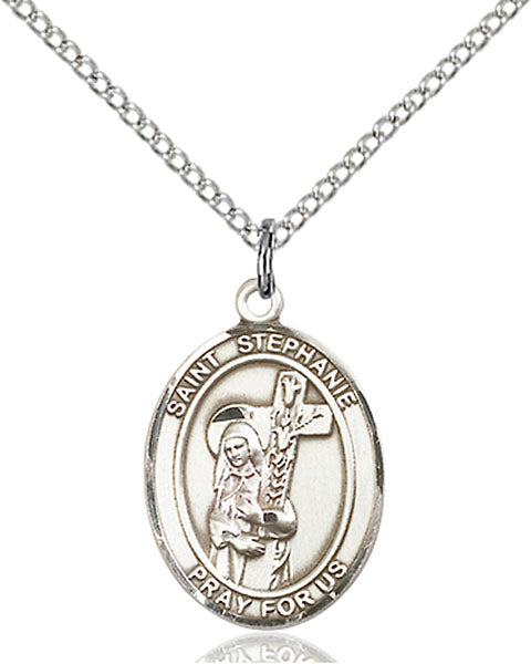 Sterling Silver Saint Stephanie Necklace Set