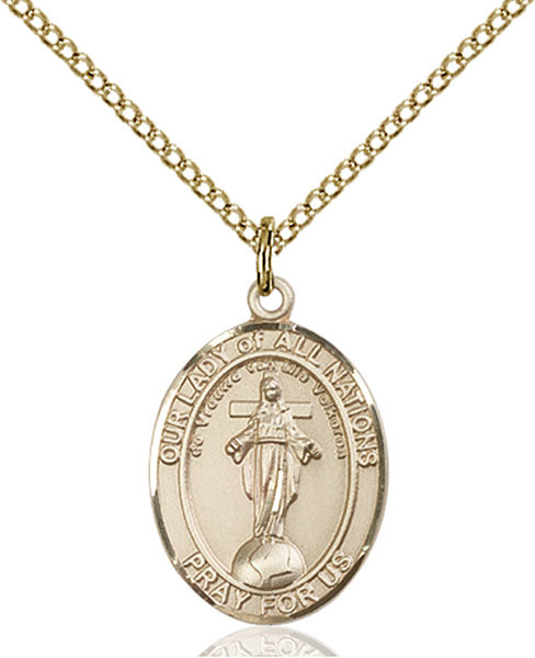 Gold-Filled Our Lady of All Nations Necklace Set