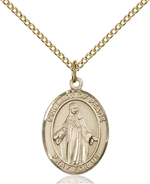 Gold-Filled Our Lady of Peace Necklace Set